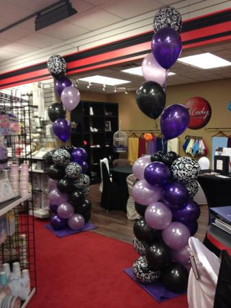 Floating Balloon Pillar at Cody Party Store & Rentals