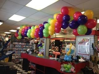Swag Balloon Chandelier at Cody Party Store & Rentals