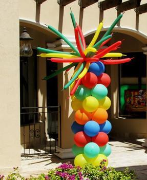 Crazy Q Top Pillar at Cody Party Store & Rentals