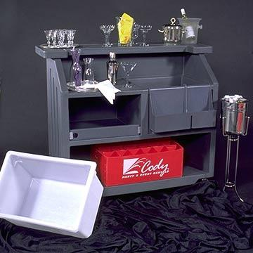 Ice Bucket w/Tongs-Silver at Cody Party Store & Rentals