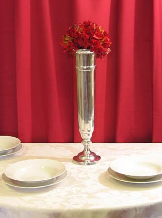 Modern Stainless Vase at Cody Party Store & Rentals