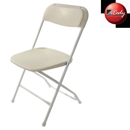 Chair - Plastic Folding - White at Cody Party Store & Rentals