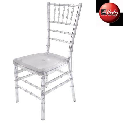 Chair - Chiavari - Crystal Clear Resin at Cody Party Store & Rentals