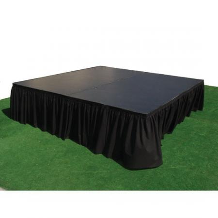 Stage Skirting-Black (8ft x 10 inches) at Cody Party Store & Rentals