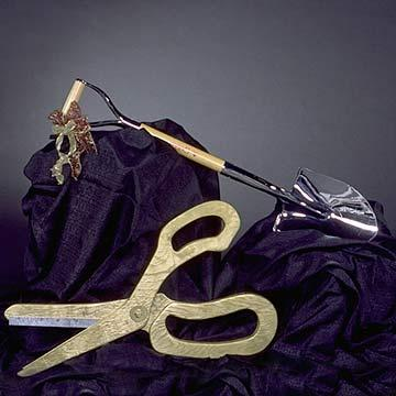 Ceremonial Silver Shovel at Cody Party Store & Rentals