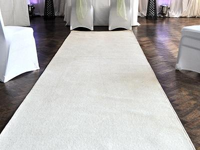 Aisle Runner White -NO LONGER AVAILABLE at Cody Party Store & Rentals