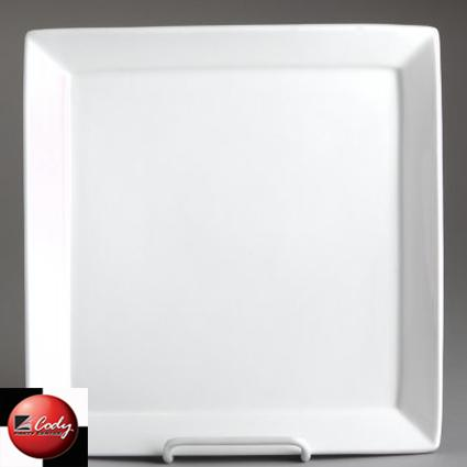 """Square Dinner Plate - 10 1/4"""" at Cody Party Store & Rentals"""