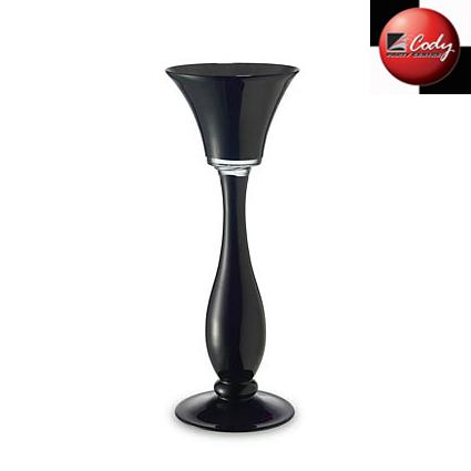 """Septer Glass Vase Black 20"""" at Cody Party Store & Rentals"""