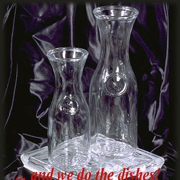 Wine/Juice Carafe - 1/2 litre at Cody Party Store & Rentals