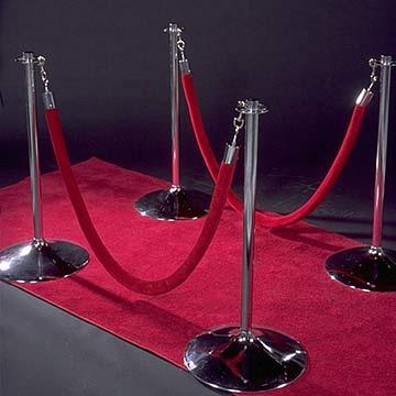 Stanchion Post Chrome at Cody Party Store & Rentals