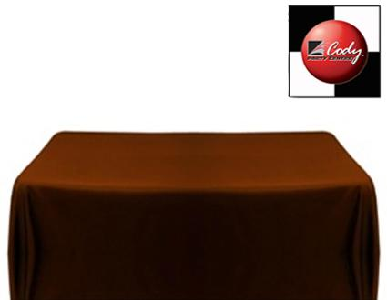 """Rectangle Chocolate Tablecloth (50x120"""") - Poly at Cody Party Store & Rentals"""