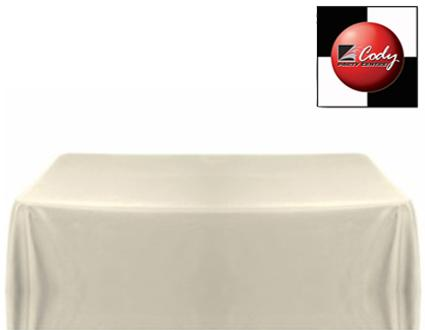 """Rectangle Ivory Tablecloth (50x120"""") - Poly at Cody Party Store & Rentals"""