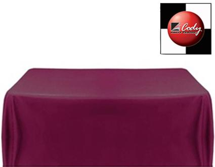 """Rectangle Eggplant Tablecloth (90x132"""") - Poly at Cody Party Store & Rentals"""