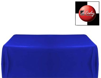 """Rectangle Royal Blue Tablecloth (90x132"""") - Poly at Cody Party Store & Rentals"""
