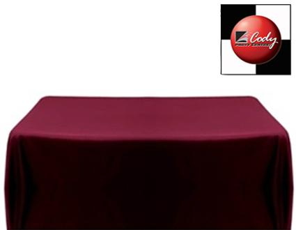 """Rectangle Burgundy Tablecloth (90x132"""") - Poly at Cody Party Store & Rentals"""