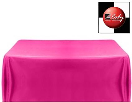 """Rectangle Fuchsia Tablecloth (90x132"""") - Poly at Cody Party Store & Rentals"""