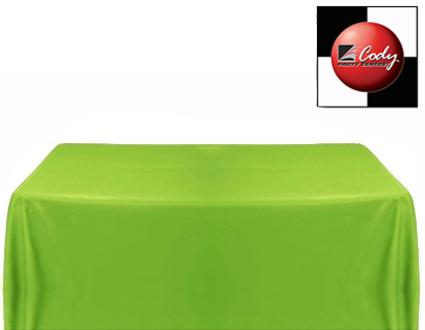 """Rectangle Sage Green Tablecloth (90x132"""") - Poly at Cody Party Store & Rentals"""