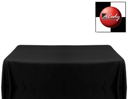 """Rectangle Black Tablecloth (90x156"""") - Poly at Cody Party Store & Rentals"""