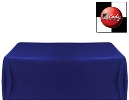 """Rectangle Navy Blue Tablecloth (90x156"""") - Poly at Cody Party Store & Rentals"""