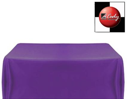 """Rectangle Purple Tablecloth (90x156"""") - Poly at Cody Party Store & Rentals"""