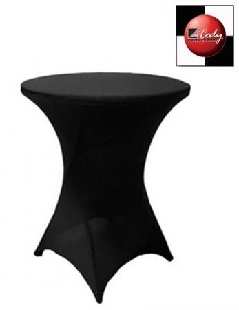 Cocktail Black Table Cover - Spandex at Cody Party Store & Rentals