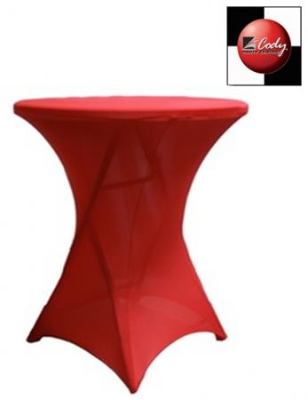 Cocktail Apple Red Table Cover - Spandex at Cody Party Store & Rentals