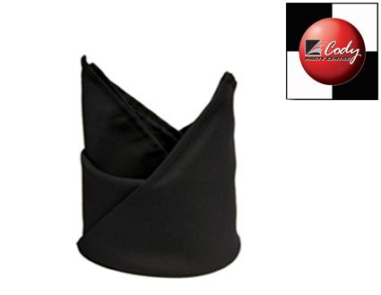"Black Napkin (20x20"") at Cody Party Store & Rentals"