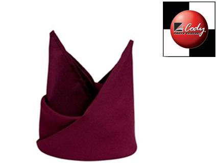 """Burgundy Napkin (20x20"""") at Cody Party Store & Rentals"""