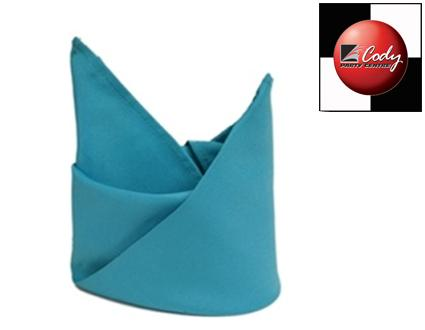 """Turquoise Napkin (20x20"""") at Cody Party Store & Rentals"""