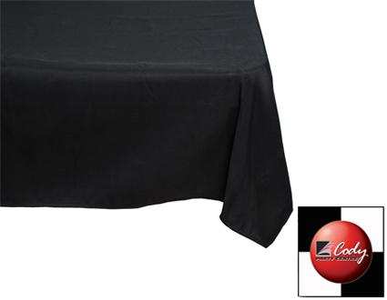 Square Black Tablecloth (70x70) at Cody Party Store & Rentals