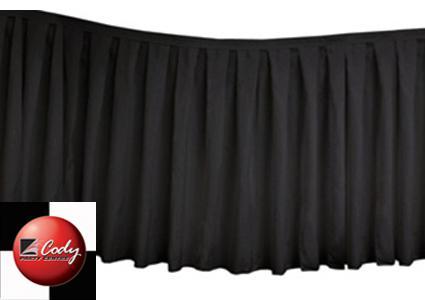 Table Skirt Black - Polyester (17