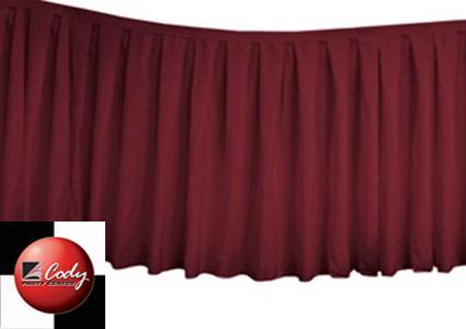 Table Skirt Burgundy - Polyester (17