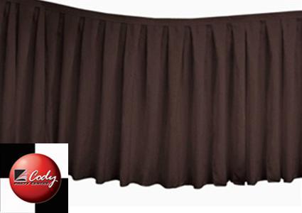 Table Skirt Chocolate - Polyester (17
