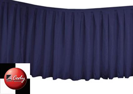 Table Skirt Navy Blue - Polyester (17