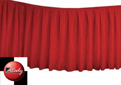 Table Skirt Red - Polyester (17