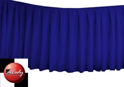 Table Skirt Royal Blue - Polyester (17