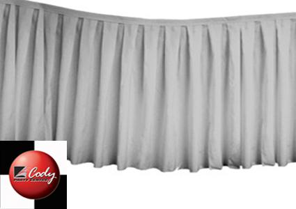 Table Skirt Silver - Polyester (17