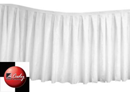 Table Skirt White - Polyester (17