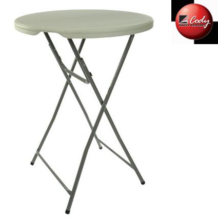 """Table Round Cocktail High - 32"""" Wide Top at Cody Party Store & Rentals"""