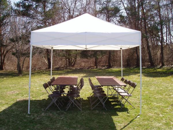 Tent 10 x 10 Frame at Cody Party Store & Rentals