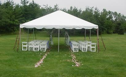 Tent 20 x 20 Frame at Cody Party Store & Rentals