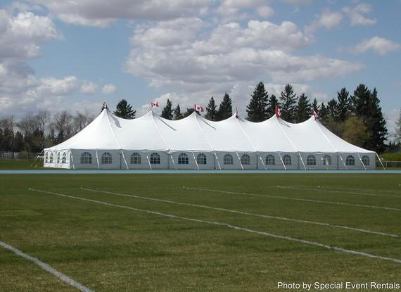 Tent 40 x 140 Pole at Cody Party Store & Rentals