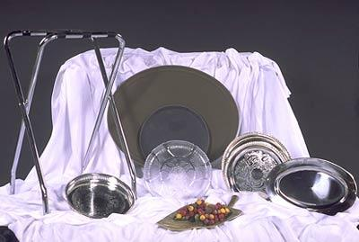 Tray - Waiter - Round 14 inch with Non Slip Surface at Cody Party Store & Rentals